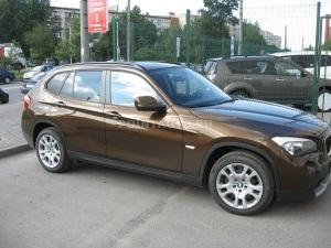 Тонировка стекол BMW X1 пленкой SunTek HP 5